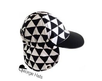 Sun & Swim Hat TRIANGLES REMIX / Baby Sun Hat / Toddler Sun Hat / Kids Swim Hat