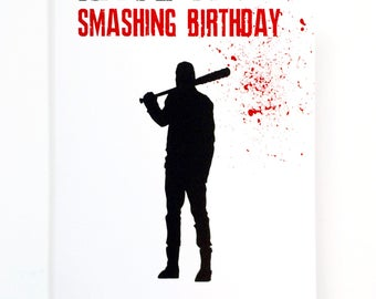 Funny christmas card feliz navidad cactus christmas tree twd birthday negan smashing funny inappropriate birthday greeting card pun cards walking dead greeting m4hsunfo