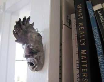sculpture, ceramics, figurine, weird art - Mr. Mohawk