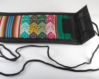 Manta Eye Glass Case Bag From Peru Free Trade OOAK Handmade New #2