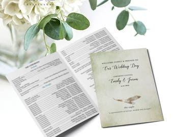 Woodlands - Wedding Programs (Style 13768)