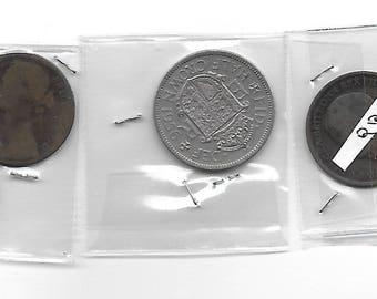 Vintage Old Coins 6 piece lot