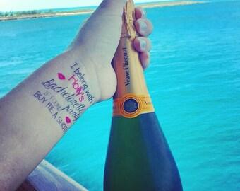 Custom Bachelorette Tattoos, Bachelorette Party Tattoos, Temporary Tattoos, Party Favors, Bachelorette Favors, Bride Tribe