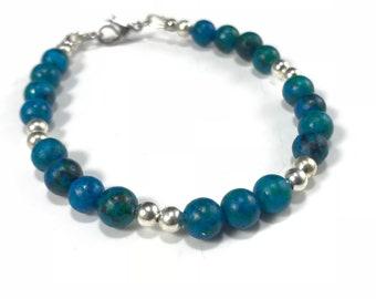Sale Blue Green Stone Bracelet Calming Bracelet Power Stone Healing Bracelet Energy Bracelet Healing Gemstone Bracelet Yoga Chakra Balancing