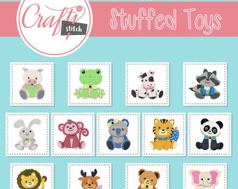 Machine Embroidery Designs - Stuffed Toys Collection of 13 Machine Embroidery Designs