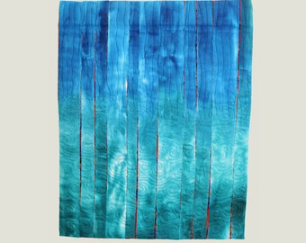 Art Quilt Wallhanging Waterfall Small Wall Quilt