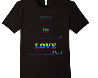 Love is Love - Heartbeat Line T-Shirt, LGBT PRIDE SHIRT