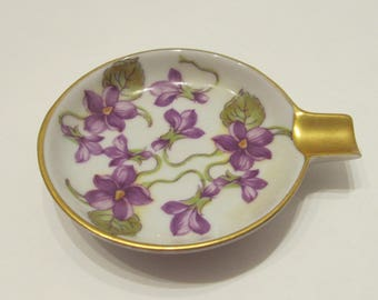 Violet Cigarette Rest/Ashtray - Mitterteich Bavaria