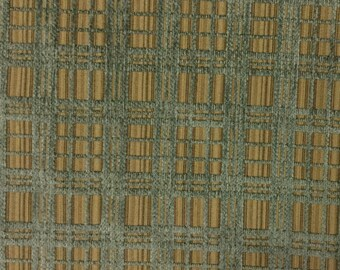 Basketweave - Blue/Natural - Upholstery Fabric by the Yard