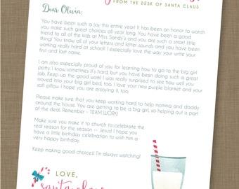 INSTANT DOWNLOAD // EDITABLE Letter From Santa // North Pole Letter // Santa Letter