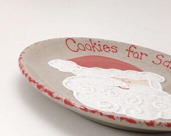 Santa Cookies for Santa Plate - Personalized Christmas Eve Plate - Santa Treats Plate - Keepsake Cookie Plate - Santa Snack - Heirloom Gift