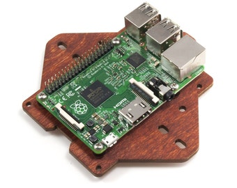 Zebra VESA Mounting Plate for Raspberry Pi 3B ,3- (Wood)