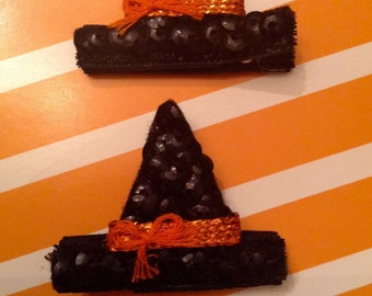 Sequin Witch Hat Clips