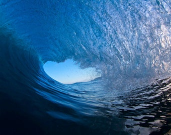 Pipeline POV Barrel Photography,Black and Blue Wave Art,Hawaii Fine Art Photo,North Shore Surf Photo,Nautical Home Decor,Surf Photography