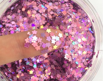 Ultrathin Small cherry blossom-shaped Sequins Nail Decoration DIY Material – 10g