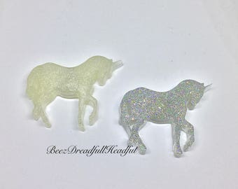 Pearl and Holographic Unicorn Magnet