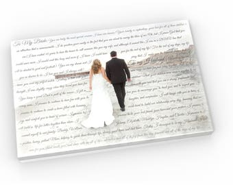 Customize Wedding Photo with Words or lyrics; Picture with lyrics; Wedding photo with quotes; Add vows to photo; Letter to wife