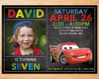 Cars 3 Invitation , Cars 3 Invitation , Cars 3 Invite , Cars Birthday Invitation , Cars Lightening McQueen Invitation