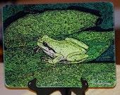 Glass Cutting Board - Froggy - 7.75in  x 10.75in