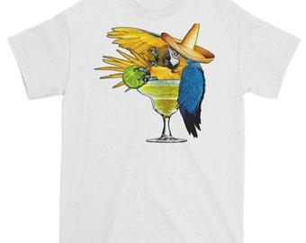 Macaw Parrot Margarita T Shirt