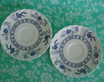 Blue Nordic by J & G Meakin, J and G Meakin Blue Nordic Classic Saucers, Set of 2 Blue Nordic Saucers