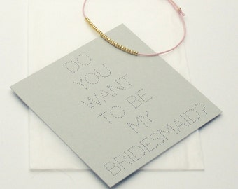 Armband – Do you want to be my Bridesmaid? - Rosa