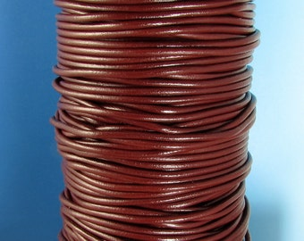 Greek Leather Cord, Bordeaux, 2 MM, 12-feet,  M125