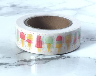 Ice Creams Washi Tape - Ice Creams Tape - Ice Cream Tape - Ice Cream Stationery