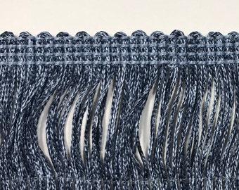 Blue and grey Brush Fringe