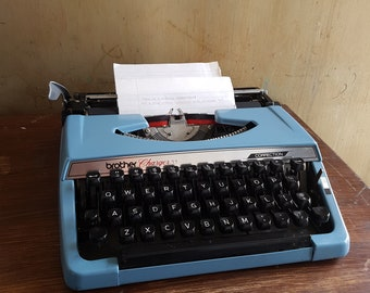 1981 Brother Charger 11 Typewriter With Case - Comes With Fresh Ribbon