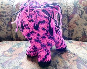 crochet stuffed animals, crochet pony, baby friendly toys, pony for baby girl, crochet pony, pink pony, speckled pony, stuffed doll,