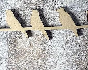 Bird 612 embellishment wooden creations