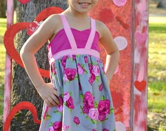 Pink flowered Loretta dress