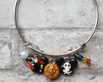 Pirates of the Caribbean Inspired Expandable Bangle Bracelet