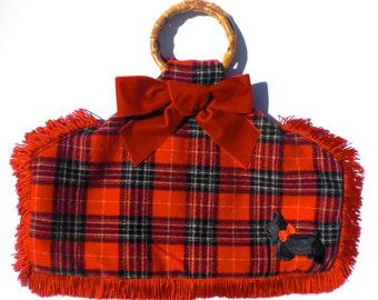 Scotch Highball. Bamboo handled Handbag. Made in the USA.
