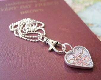 Charm Clip for Map Pendants in Copper, Gold and Silver, Bag Clip, Purse Clip