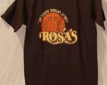 MINT Vintage Rosa's T-Shirt 1980's I Did It Upside Down At Medium New NEVER USED