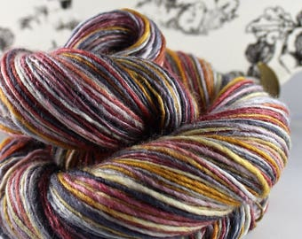 Handspun Yarn Gently Thick and Thin DK Single Merino and Silk 'At My Front Door'
