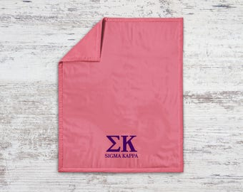 SK Sigma Kappa Classic Sweatshirt Blanket Throw Greek Licensed Sorority Gift