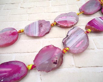 Pink Agate Slab - Pink Agate Pendant - Faceted Pink Agate - Faceted Agate Nugget - Faceted Agate Slab - Agate Pink Slab - Pink Agate Nugget