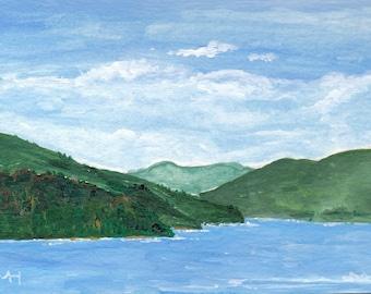 New Zealand Original Acrylic Painting