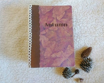 Autumn/Fall Scrapbook Mini Album