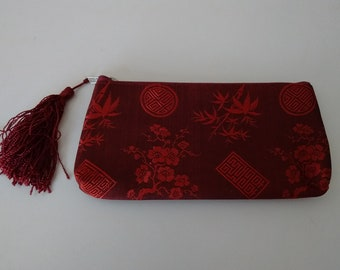Small Asian Clutch from San Francisco, Small Make-Up Bag from Chinatown in San Francisco
