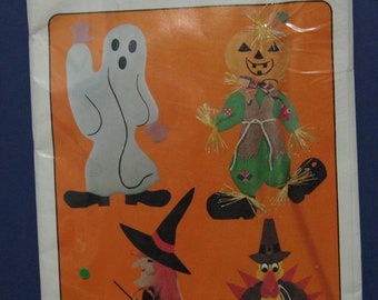 Snow Foam Craft Project Patterns P-540 Ghost Jack 'O Lantern / Scarecrow Turkey Witch
