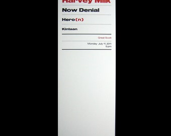 Harvey Milk letterpress poster