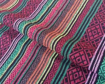 Tribal Fabric Striped Fabric Ethnic Fabric Native Fabric Boho Bohemian Style Hand Aztec Fabric half (1/2) Metre