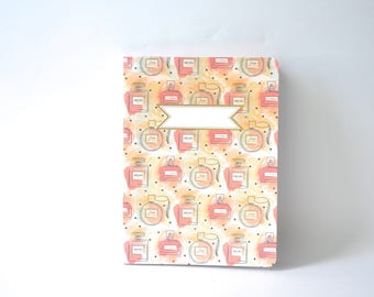 Pink Summertime Notebook, Chic Perfume Diary, Handbound Blank Journal, Softcover Notebook