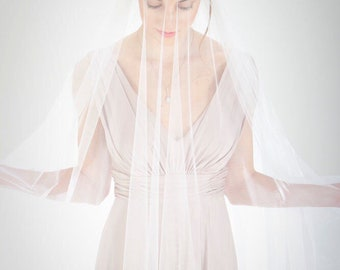 Ivory Wedding Veil, Bridal Veil, Drop Wedding Veil,