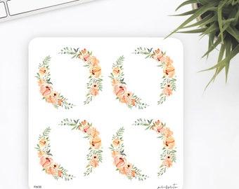 FW35 | Wreath Sticker | Decorative Sticker | Watercolor Sticker | Flower Sticker | Planner Stickers | Bullet Journal Stickers
