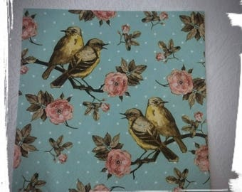 1 single Decoupage Paper Napkin,Birds and roses,Crafts, Decopatch ,Tissue napkins,Mixed Media, Serviettes